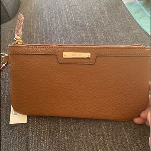 Nine West Brown Leather Wristlet